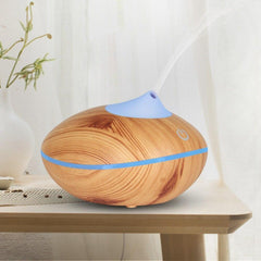 200ml Wood Grain Orb Ultrasonic Humidifier Essential Oil Diffuser