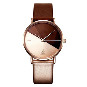 Women's Leather Wrist Watch - LiquidDiffuser