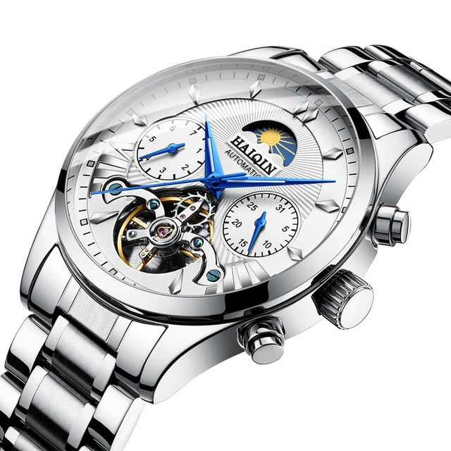 Stainless Steel Automatic Men's Watch - LiquidDiffuser