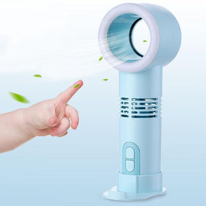 Mini Handheld Bladeless Fan with LED - LiquidDiffuser