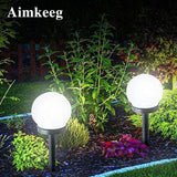 2PCS Led Solar Energy Powered Bulb Lamp Waterproof Outdoor Garden Ball Light Lawn  Night Lights Led Solar Lamp for Holiday Decor