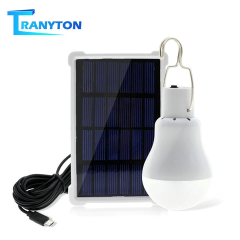Portable Solar Light 12W 15W Rechargeable 5V LED Bulb Useful Energy Saving Solar Panel Lamp For Outdoor Camping Tent Solar Bulbs