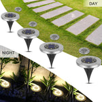 2019 New Design Hot Solar LEDs Garden Light Outdoor Ground Lamps Waterproof Pathway Deck Lights For Home Yard Driveway Lawn Road