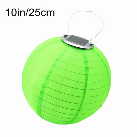 10 inch Lantern Solar Garden Light Outdoor Lantern Ball Solar Fairy Globe Lamp Wedding Decoration With Battery Holiday Lighting