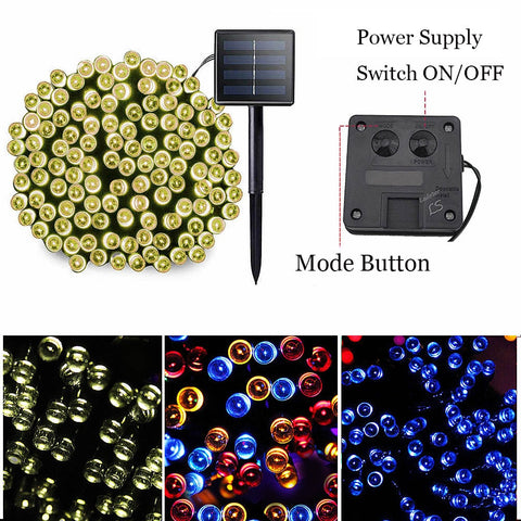 100 Led Solar Garden Light Outdoors Waterproof Solar Powered Lamp Wedding Christmas Garland Led Fairy String Lights Street Decor
