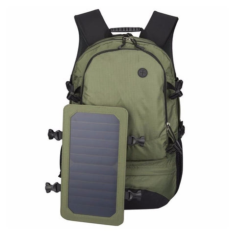 Xinpuguang Solar Power Bank 6000mAh External Battery Backpack 6W 6V Solar Panel Charger for Camping Hiking Outdoors Cell Phone