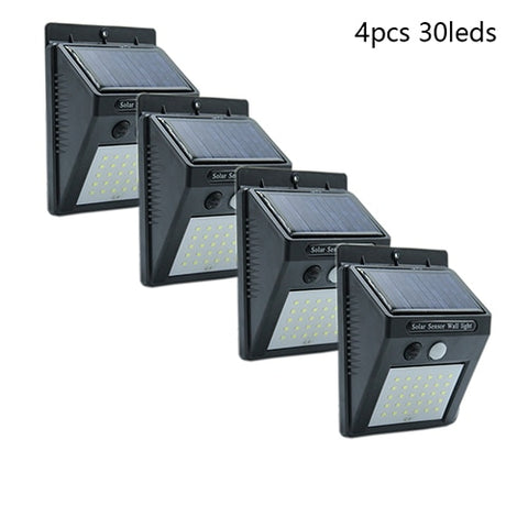 20 30 LED Solar Light Outdoor Solar Lamp PIR Motion Sensor Solar Panel Night Security Wall Light Garden Yard Path Waterproof