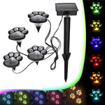 Solar Decorative Paw Print Garden Lights Solar Powered Paws Home and Garden Walkway Lighting Outdoor Decor
