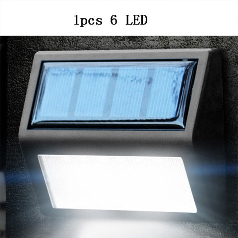 6 LED Solar Powered Lamp Outdoor Waterproof Motion Sensor Solar Wall Lights Energy Saving Garden Yard Light Solar Sconces