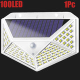 A2 solar power night light 100LED lamp 2200mA outdoor Patio Outside Wall Garden Deck Back Yard Driveway Fence Balcony