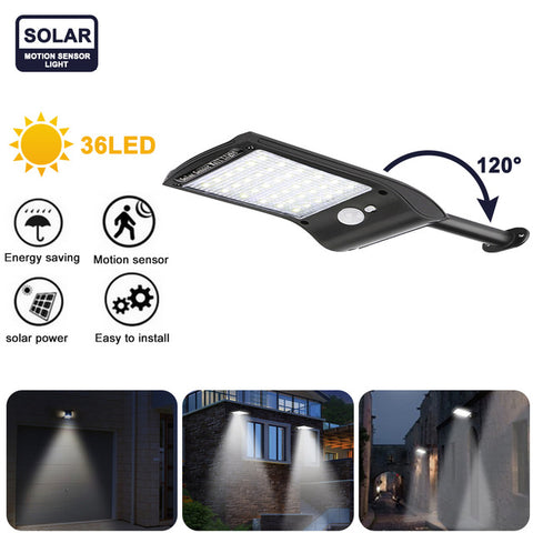 36 LED Solar Power Light Super Bright 1/2/4pcs LED Solar Wall Lamp PIR Motion Sensor Outdoor Waterproof Garden Security Lamps
