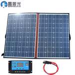 120w 18v foldable solar panel flexible home kit portable 100w usb 5v phone outdoor charger for 12v battery RV car hiking camping