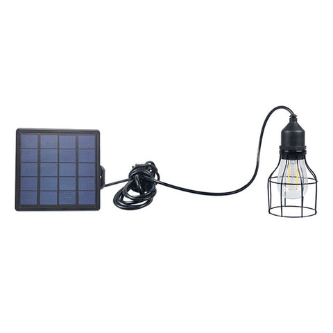 Garden Solar Light Retro Street Light Solar Powered Pendant Light Solar Waterproof Hanging Lamp for Outdoor Cafe With Panel