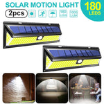 1/2/4pc 180 LED Solar Power Motion Sensor Light COB 3 Modes Outdoor Garden Yard Waterproof Energy Saving Pathway Solar Wall Lamp