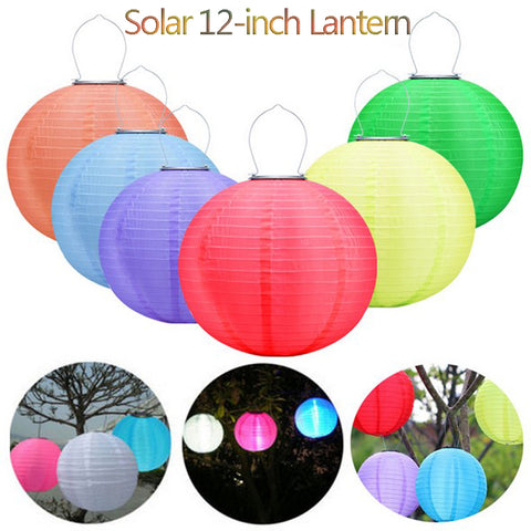 LED Solar Light Outdoors Waterproof IP44 12 Inch 600MA 8 Hours Lightlife  Colors  Lanterns For Garden Free Shipping