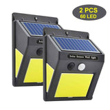 48/60 LED COB Solar Power LED PIR Motion Sensor Light Waterproof Outdoor Wall Lamp IP65 Path Yard Garden Security Lamps