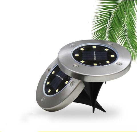 LED Solar Lamps Waterproof Buried Light 16Led Garden Floor Deck Underground Lights for Yard Driveway Terrace Stairs Lawn Lightin