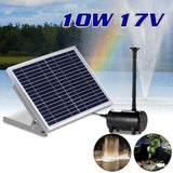 1350L/H High-power Solar Fountain for Garden Villa Pond Pool Decoration Bird Bath Solar Watering Fountain Waterfall Pump 17V 10W