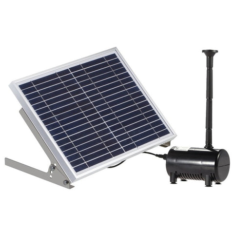 Fashion-17V 10W Solar Pond Pump Brushless Fountain Water Pump With 6 Different Wells