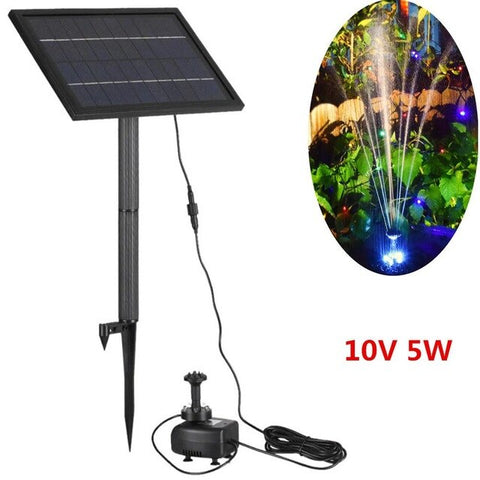 MeterMall 10V 5W Solar Fountain With LED Light Yard Garden Square Water Fountain For Decoration
