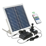 Solar Power Fountain 15W Solar Panel+3.6W Brushless Water Pump Kit with Storage Battery Remote Control for Garden Pond Bird Bath
