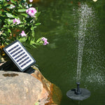 Garden Fountains  Solar Power Floating Fountain 7V 1.5W Solar Panel