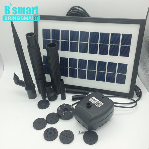 Free shipping JT-170250DBL-3.6W Solar Pump 7V 200L/H With Panel Solar,Solar Pump Submersible Brushless Motor Fountain For Pond