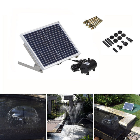 Solar Fountain Solar Water Fountain Garden Pool Pond Outdoor Solar Panel Fountain Floating Fountain Garden Decoration