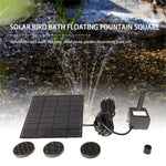 Fashion Square Shape Solar Panel Water Pump Kit Fountain Pool Garden Pond Submersible Watering Bird Bath Tank Set Drop Shipping