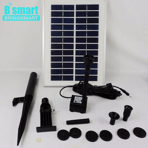 Free shipping JT-280-5W lift 160CM DC Pump Pool Brushless Solar Water Pump Kit Landscape Fountain Floating Pump Bringsmart
