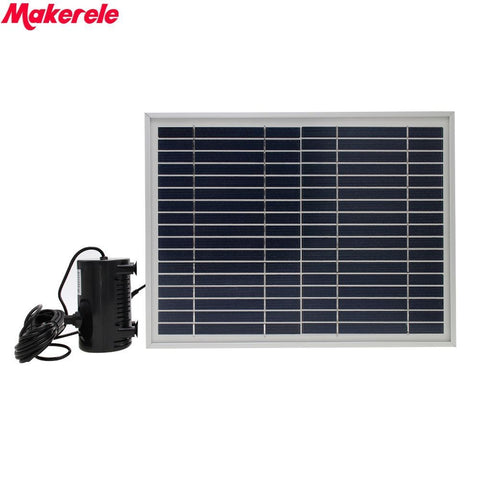 Yard Garden Solar Fountain Pump Polycrystalline silicon solar panels 10W with Aluminum alloy stent Landscape Pond Fish Pond
