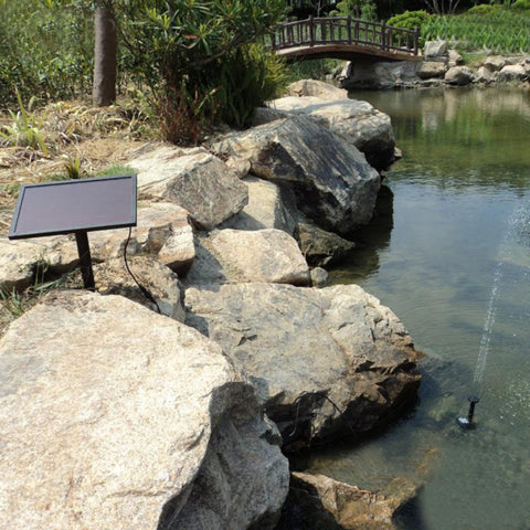 Solar Power Fountain Water Pump Set 9V 3W Submersible Aquarium Garden Pond Landscape Oxygen Hydroponics Solar Panels Accessories