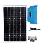 Kit Panel Fotovoltaico 12v 60w  Solar Car Battery Charger Solar Charge Controller 12v/24v 10A Car Camp Caravan Light Fountain