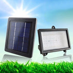 TAMPROAD Outdoor Solar Powered Flood Light 40 LED Spotlight Lamp Waterproof Garden Pool Fountain Floodlight for Lawn Hotel Yard