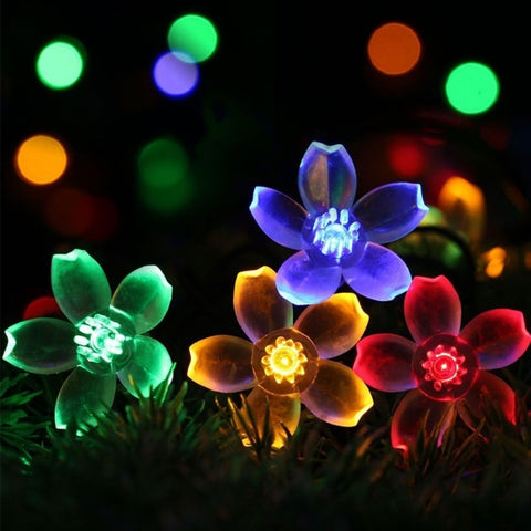 Peach Blossom Light Party luminous props Lights Solar Lantern Light LED Solar Lights Christmas Halloween Decoration