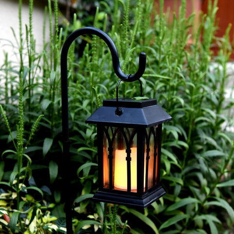High Solar Power Waterproof LED Candle Light Outdoor Garden Lawn Path Street Hanging Lantern Lamp UEJ