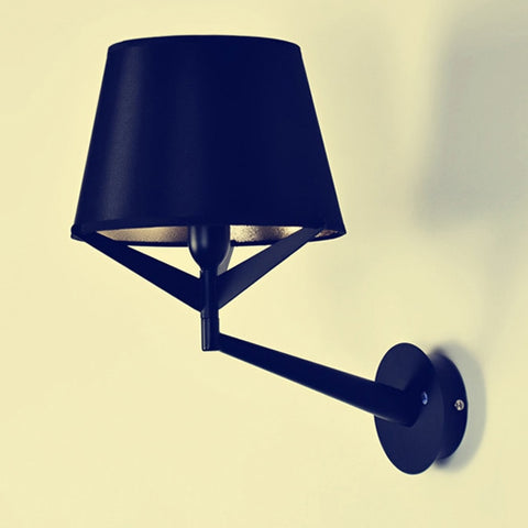 Modern triangle wall lamp Cafe fork taper cloth lantern wall lamp