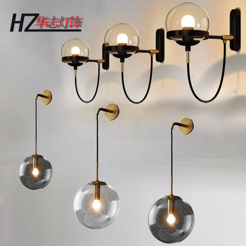ball glass wall lamp personality atmosphere wall lamp hotel corridor lamps and lanterns of bedroom the head of a bed