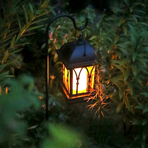 Solar Power Waterproof LED Candle Light Garden Lawn Path Street Hanging Ground Lantern Lamp ALI88
