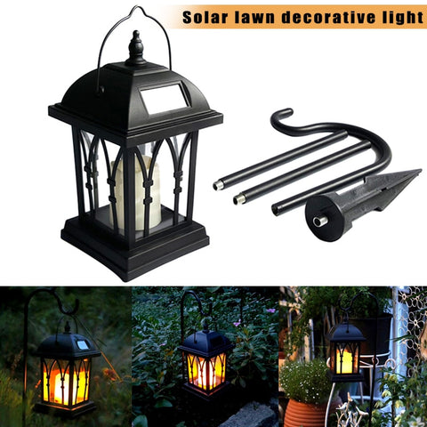 High Solar Power Waterproof LED Candle Light Garden Lawn Path Street Hanging Ground Lantern Lamp UEJ
