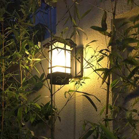 wall lamp, outdoor waterproof lamps and lanterns, wrought iron retro corridor contracted Japanese balcony wall lamp