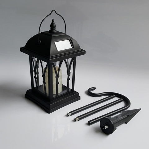Solar Power Waterproof LED Candle Light Garden Lawn Path Street Hanging Ground Lantern Lamp JA55