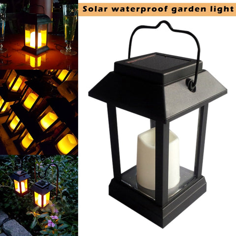 High Solar Power Waterproof LED Garden Candle Light Outdoor Lighting Hanging Lantern Lamp UEJ