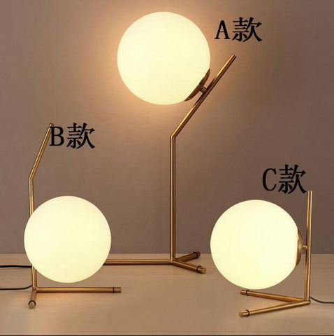 postmodern study dining-room sitting room lamps and lanterns, magic beans personality bedside lamp glass ball lamp