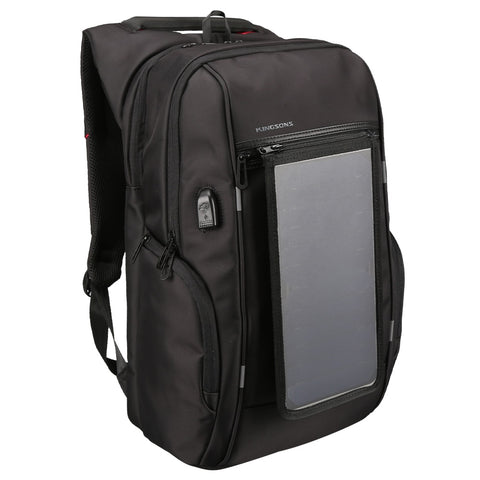 Solar Panel Backpacks 15.6 inches Convenience Charging Laptop Bags for Travel Solar Charger Daypacks School Backpacks