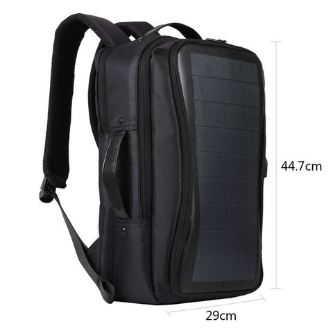 Solar Backpack Bags Flexible Solar Panel 14W Power Backpack Laptop Bag+Handle+USB Laptop Tablet Bags