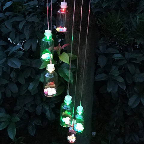 Outdoor LED Solar Lamp Bottle Wind Home Decor Solar Light Color-Changing Wind Chime Light Solar Light For Garden Decoration