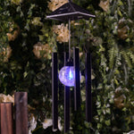 Thrisdar gift solar LED wind chime lamp waterproof stainless steel solar garden hanging lamp garden decoration lamp