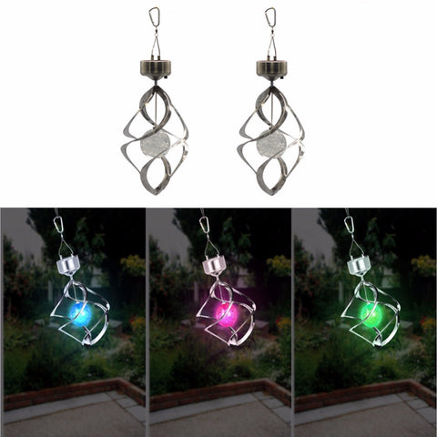 Windbell campanula shape Solar lights colorful changes Solar wind chimes light chandelier hanging nightlight  garden decoration