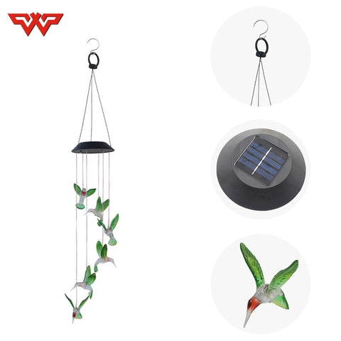 Solar Wind Chime Lights Wind Lights Hummingbird Solar Gift Lights Color LED Garden Lights